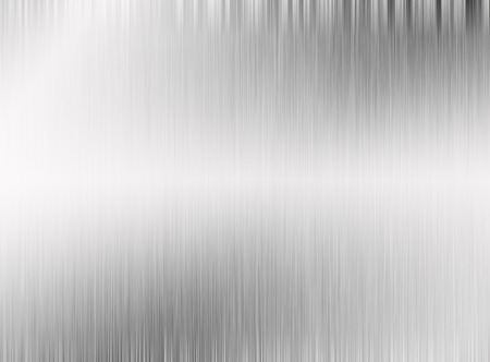 brushed steel: Metal silver background or texture of brushed steel plate with reflections Iron plate and shiny Stock Photo