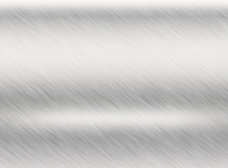 Metal silver background or texture of brushed steel plate with reflections Iron plate and shiny Stock Photo
