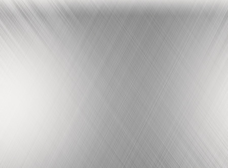 brushed: Metal silver background or texture of brushed steel plate with reflections Iron plate and shiny Stock Photo