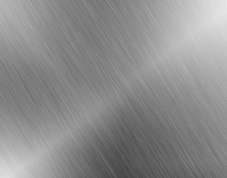 aluminium wallpaper: metal, stainless steel texture background with reflection Stock Photo