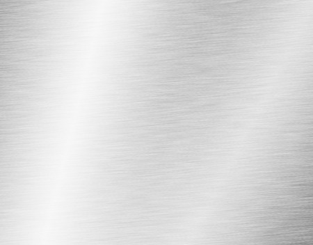 brushed: metal, stainless steel texture background with reflection Stock Photo