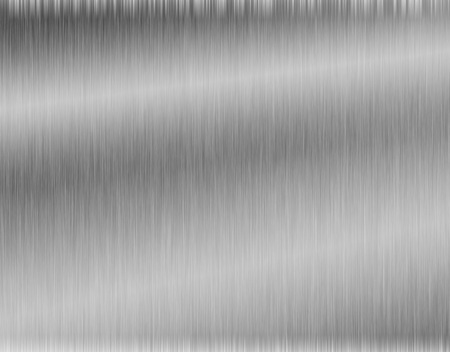 brushed aluminum: metal, stainless steel texture background with reflection Stock Photo