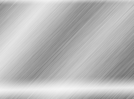metal, stainless steel texture background with reflection Standard-Bild - 111851222