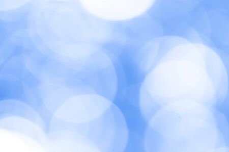 Lights Blue Bokeh Background Stock Photo