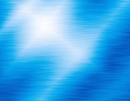 Metal blue background or texture of brushed steel plate with reflections 스톡 콘텐츠