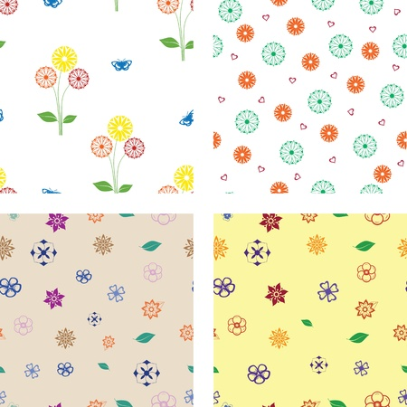 Flower seamless patterns Stock Vector - 16054701