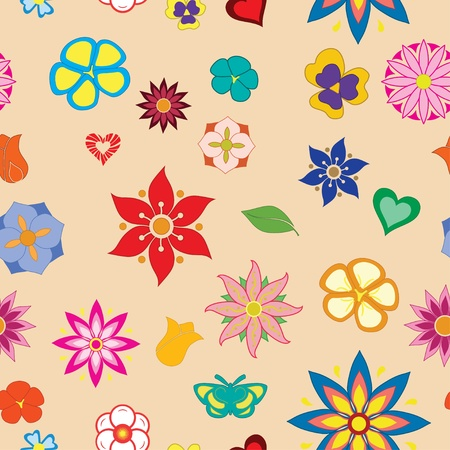 Multicolored flower seamless pattern Stock Vector - 16054697