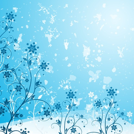 Flower background in grunge style Stock Vector - 16488840