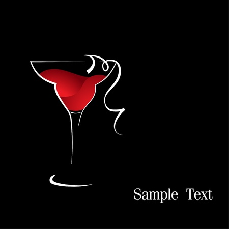 A wineglass of red wine Vector