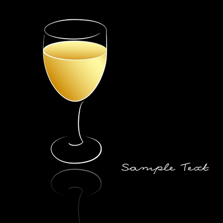 A wineglass of white wine Stock Vector - 16910577