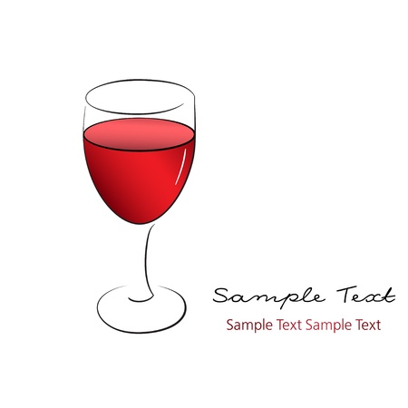 A wineglass of red wine Stock Vector - 16910574