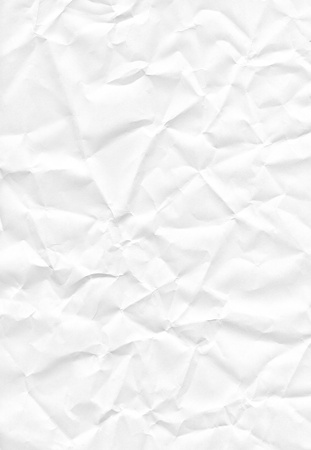 White crumpled paper texture or background Stock Photo