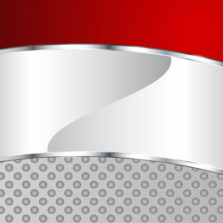 Abstract metallic background with red element