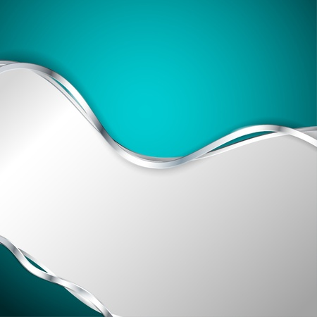 Abstract metallic background with turquoise element