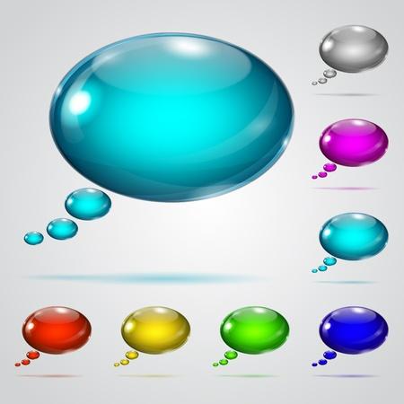 elipse: Bal�es de fala coloridos Ilustra��o