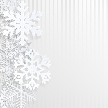 Christmas background with snowflakes and strips