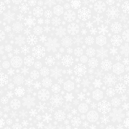 Christmas seamless pattern from white snowflakes on gray background