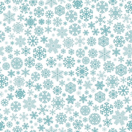Christmas seamless pattern from turquoise snowflakes on white background Stock Vector - 22444006