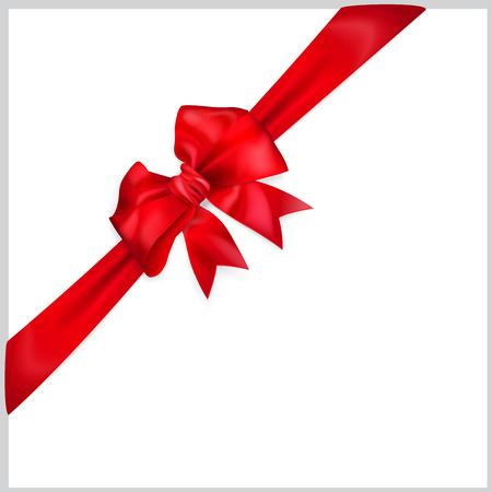 diagonally: Red bow with diagonally ribbon