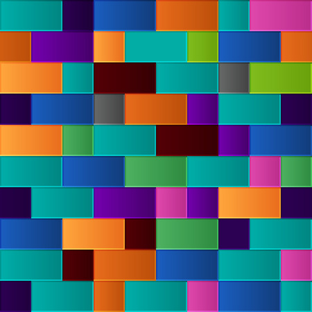 Seamless pattern of square and rectangular multicolored gradient tiles Stock Vector - 24209754