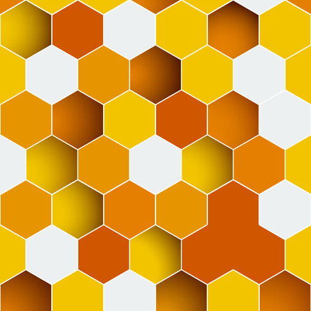 Abstract background made of colorful hexagons. Template for infographics Vector