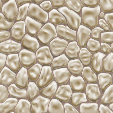 flagstone: Seamless pattern of stones in brown colors Illustration