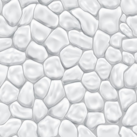 Seamless pattern of stones in white colors