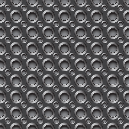 Seamless carbon pattern with small round holes in gray colors Vector