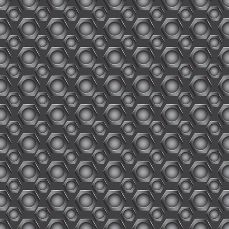 holes: Seamless carbon pattern with small round holes in gray colors