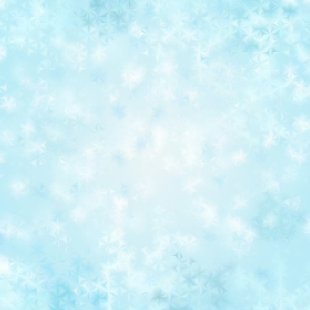 fluted: Christmas background with light blue snowflakes behind fluted glass Illustration