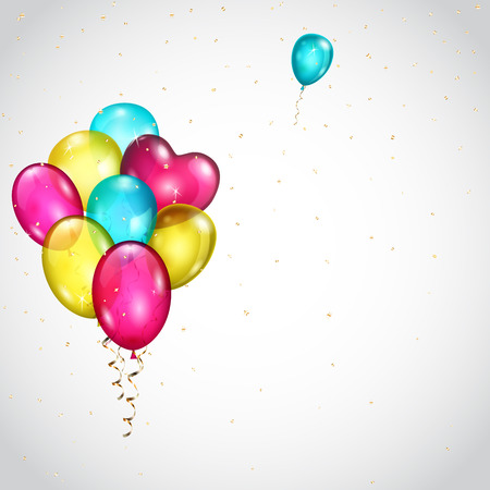 colored balloons: Background with bunch of colored balloons and single balloon