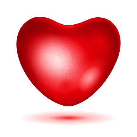bid: �Haga una oferta coraz�n rojo con reflejos y sombras Vectores