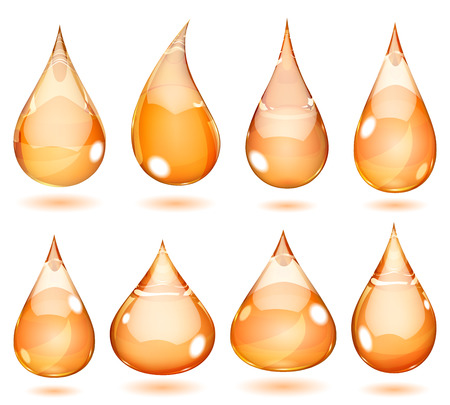 opaque: Set of opaque drops in saturated orange colors