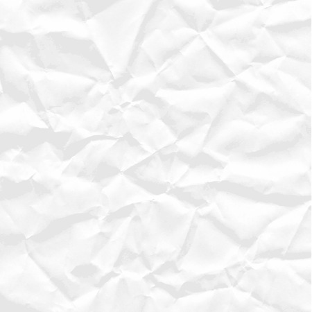 Background of square sheet of white crumpled paper