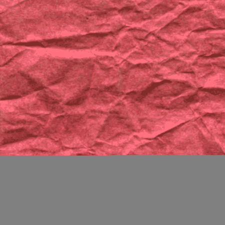 Background of square sheet of red crumpled paper