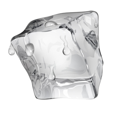 Opaque ice cube with water drops in gray colors Imagens - 41614161