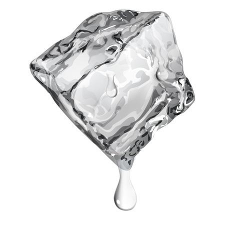 グレー色の水で不透明なアイス キューブが値下がりしました  イラスト・ベクター素材