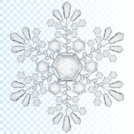 Big transparent snowflake in gray color. Transparency only in vector file Stok Fotoğraf - 42184862