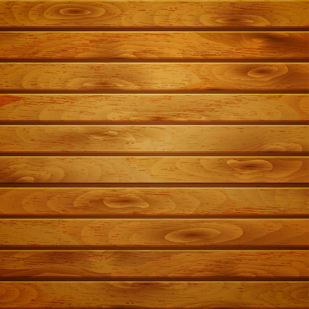 plank: Background of horizontal wooden planks in brown color Illustration