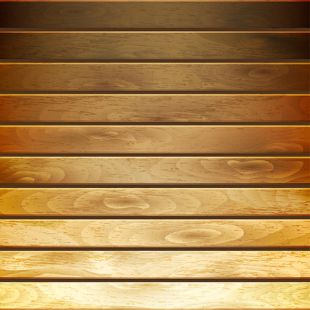 horizontal: Background of horizontal wooden planks in gradient brown colors