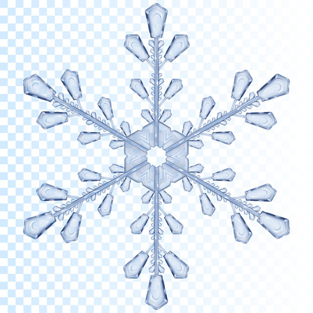 blue snowflakes: Big transparent snowflake in light blue color. Transparency only in vector file Illustration
