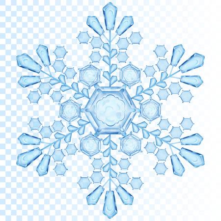 Flocon transparent Big dans la couleur bleue. Transparence seulement en fichier vectoriel Banque d'images - 43293252