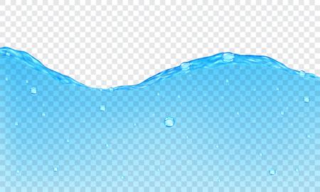 vague: Contexte de l'eau transparente avec des bulles