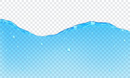 Background of transparent water with bubbles