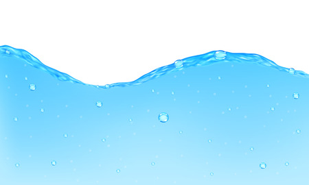 opaque: Background of opaque water with bubbles Illustration