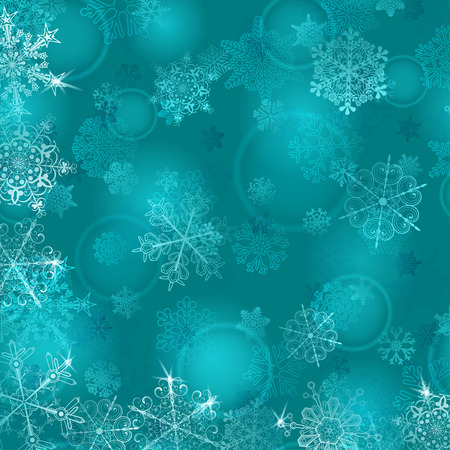 light blue: Christmas background with snowflakes in light blue colors