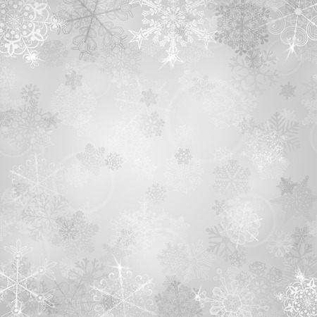 design abstract: Christmas background with snowflakes in gray colors Illustration