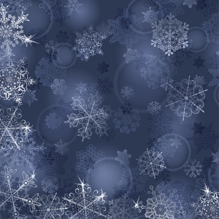 silver: Christmas background with snowflakes in gray-blue colors