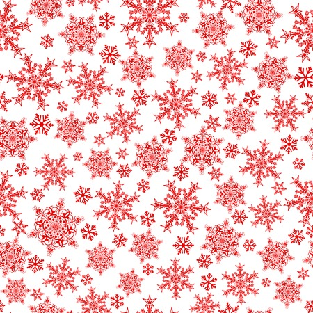 big and small: Christmas seamless pattern of big and small snowflakes, gray on white