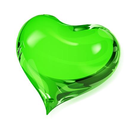 opaque: Big opaque heart in green colors